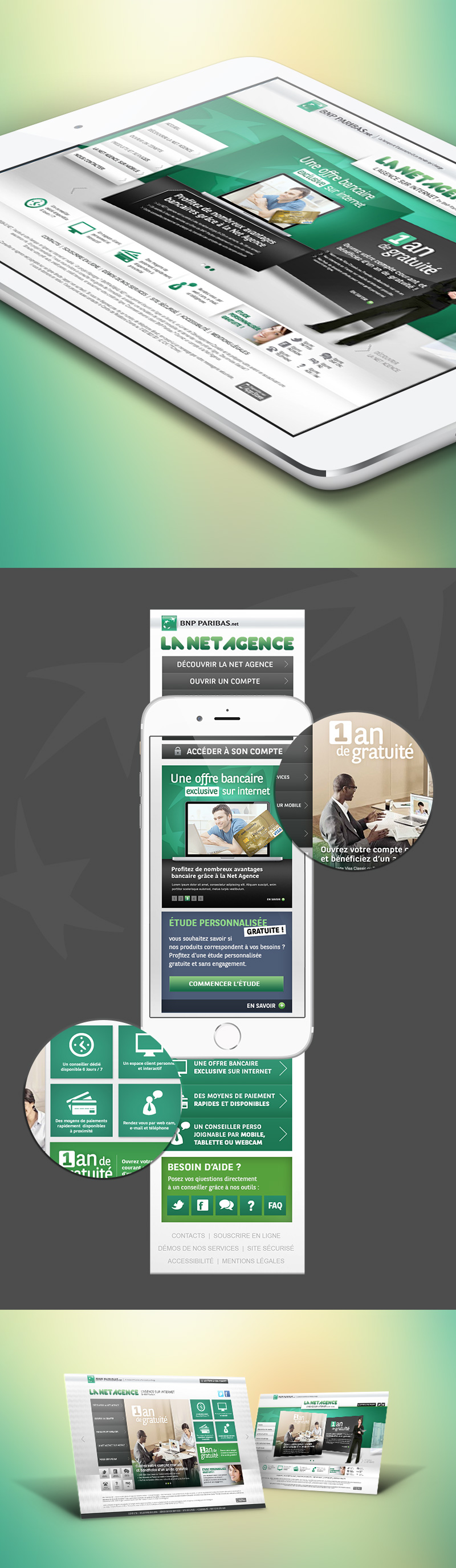 Directeur artistique freelance Portfolio Paris - BNP LA NET AGENCE