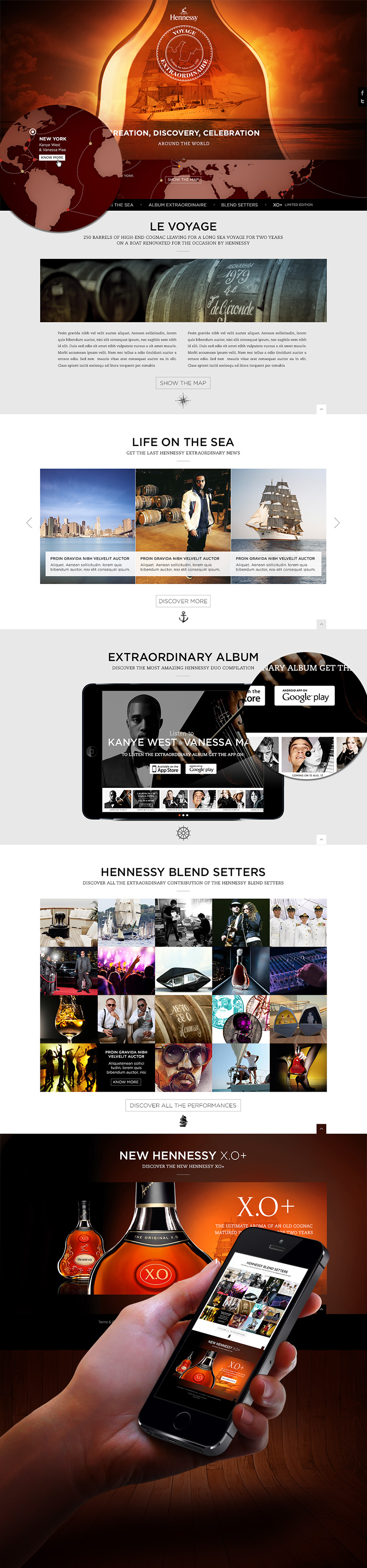 Directeur artistique freelance Portfolio Paris - HENNESSY site internet
