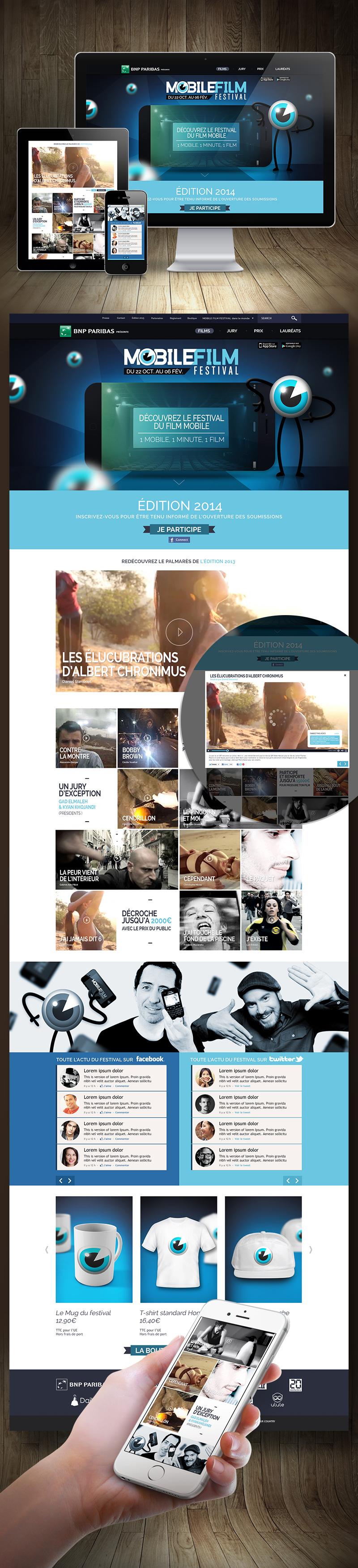 Directeur artistique freelance Portfolio Paris - Mobile Film Festival