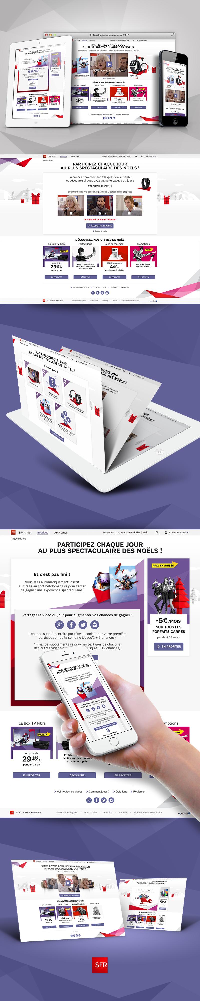 Directeur artistique freelance Portfolio Paris - SFR noël extraordinaire