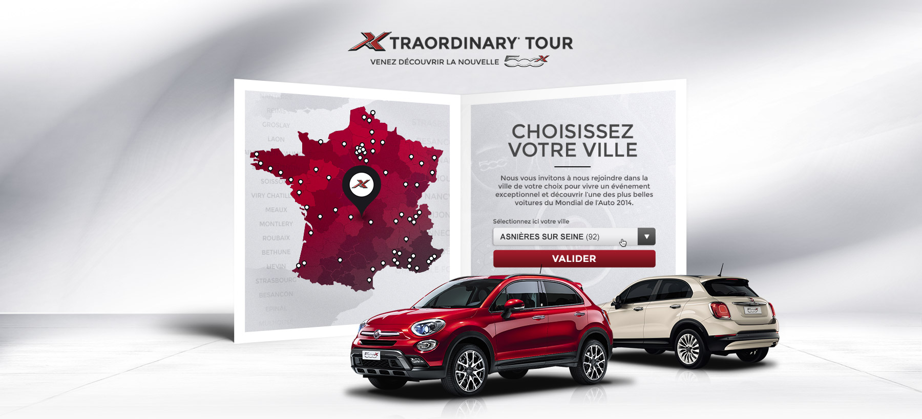 Directeur artistique freelance Portfolio Paris - FIAT 500X
