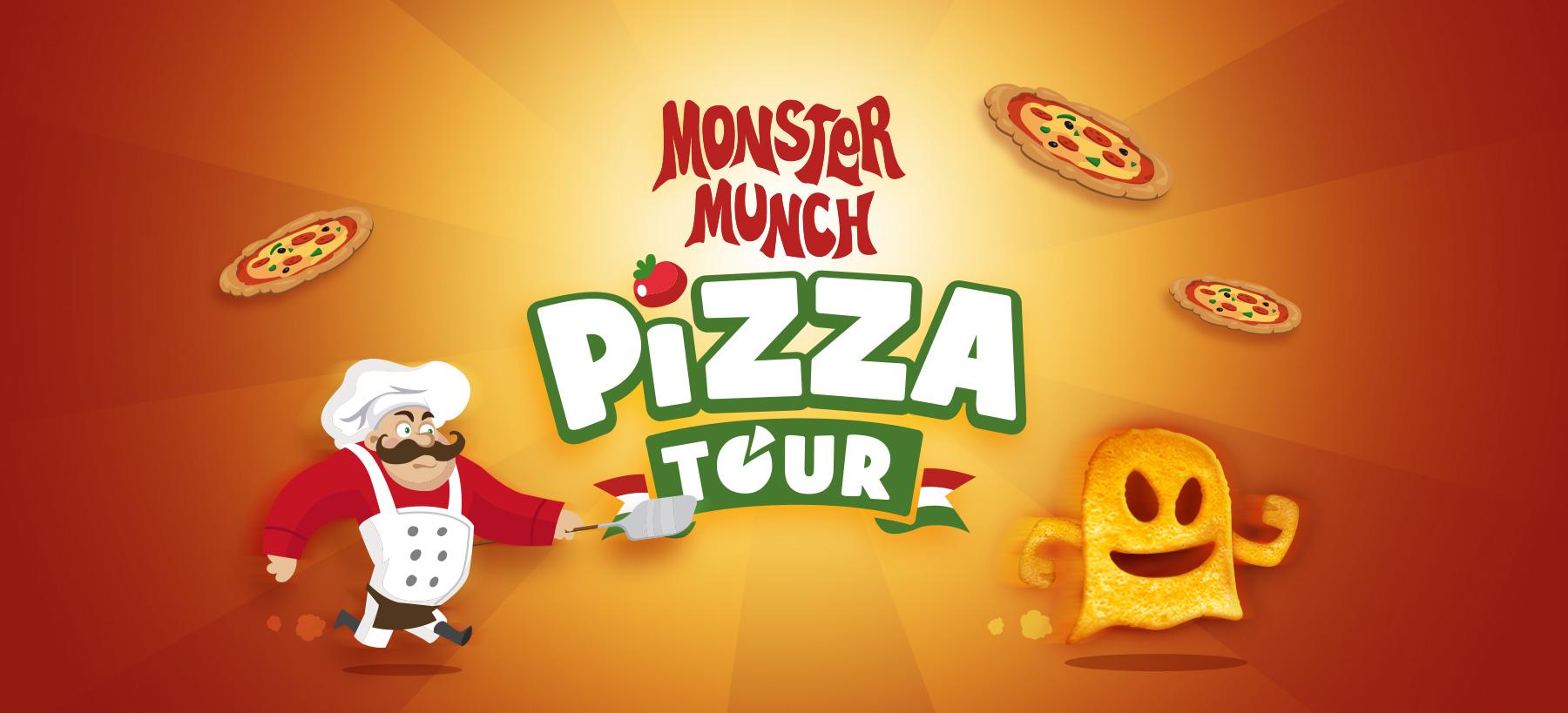 Directeur artistique freelance Portfolio Paris - Monster Munch Pizza Tour
