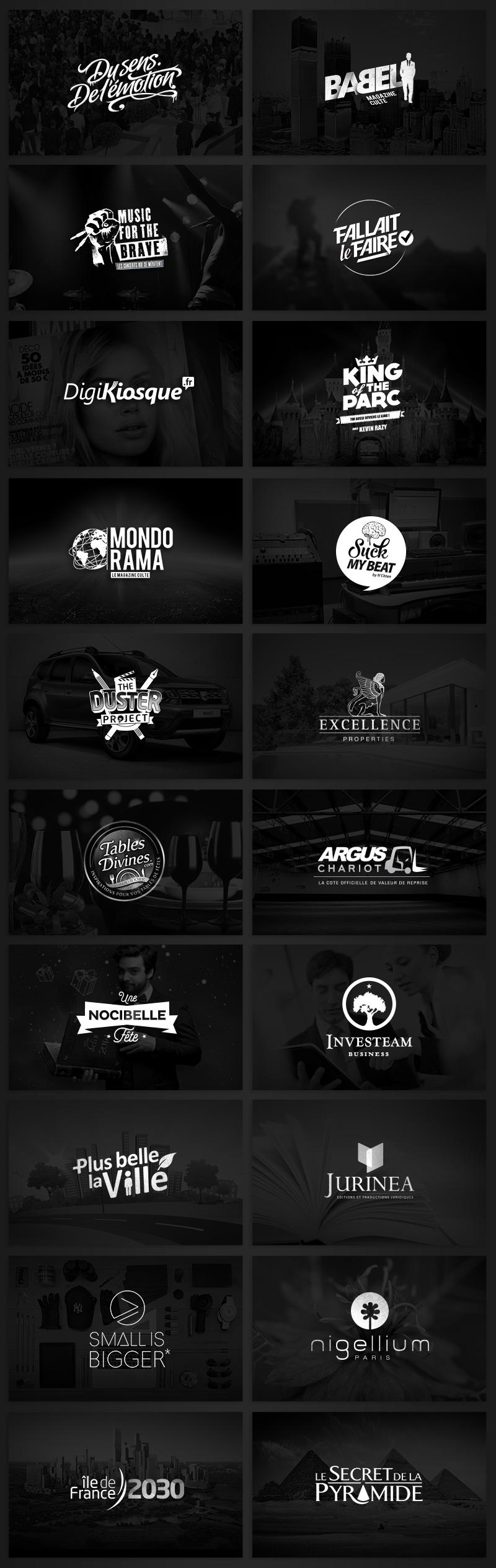 Directeur artistique freelance Portfolio Paris - Logos