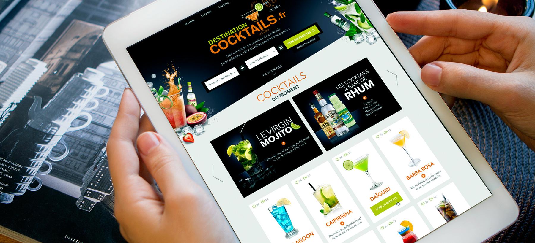 Directeur artistique freelance - Destination Cocktail site internet