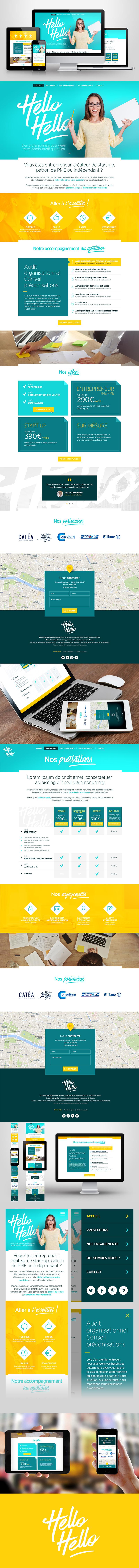Directeur artistique freelance - Hello Hello - Webdesign