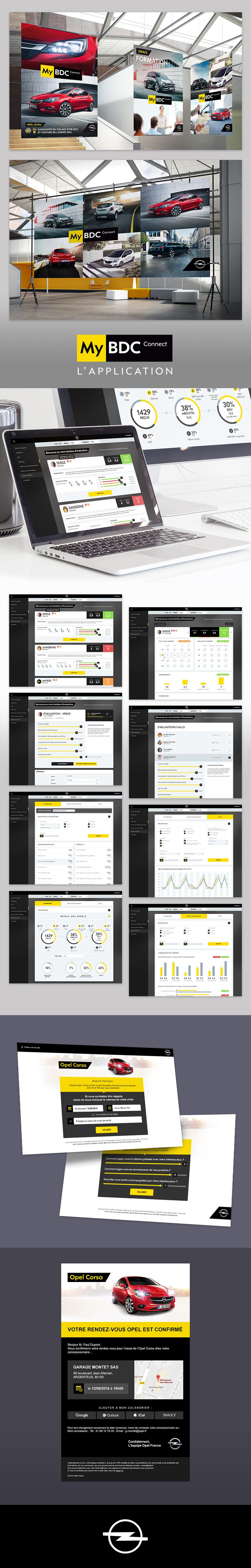 Directeur artistique freelance - Opel MyBDC - Webdesign Back office - Affiches