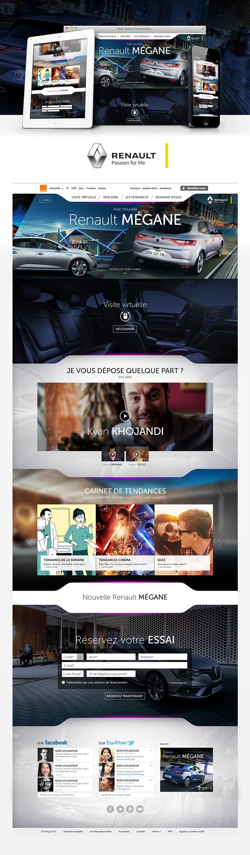 Directeur artistique freelance - Renault Mégane - Site internet