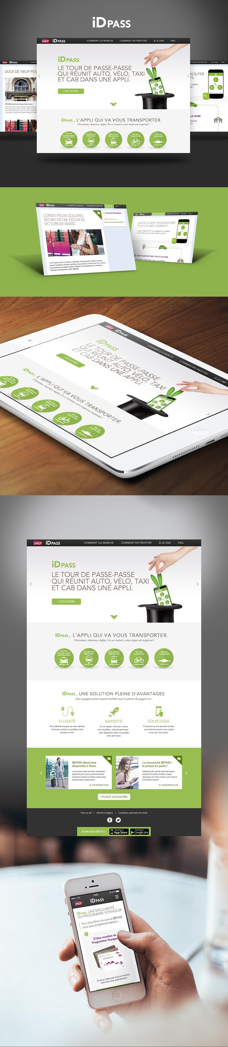 Directeur artistique freelance - SNCF IDPASS - Site internet