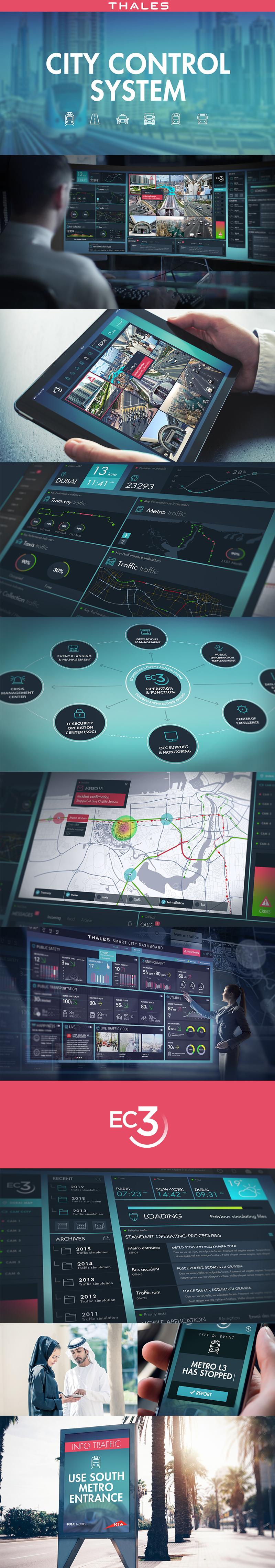 Directeur artistique freelance - THALES EC3 - UI design - Application mobile