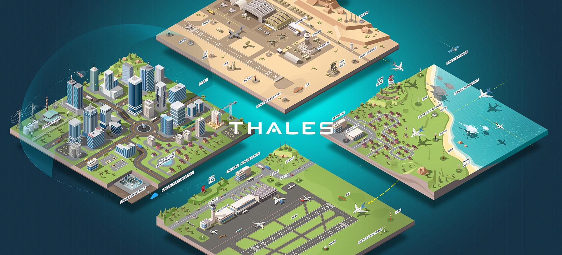 Directeur artistique freelance - THALES SYSTEMS - Illustrations