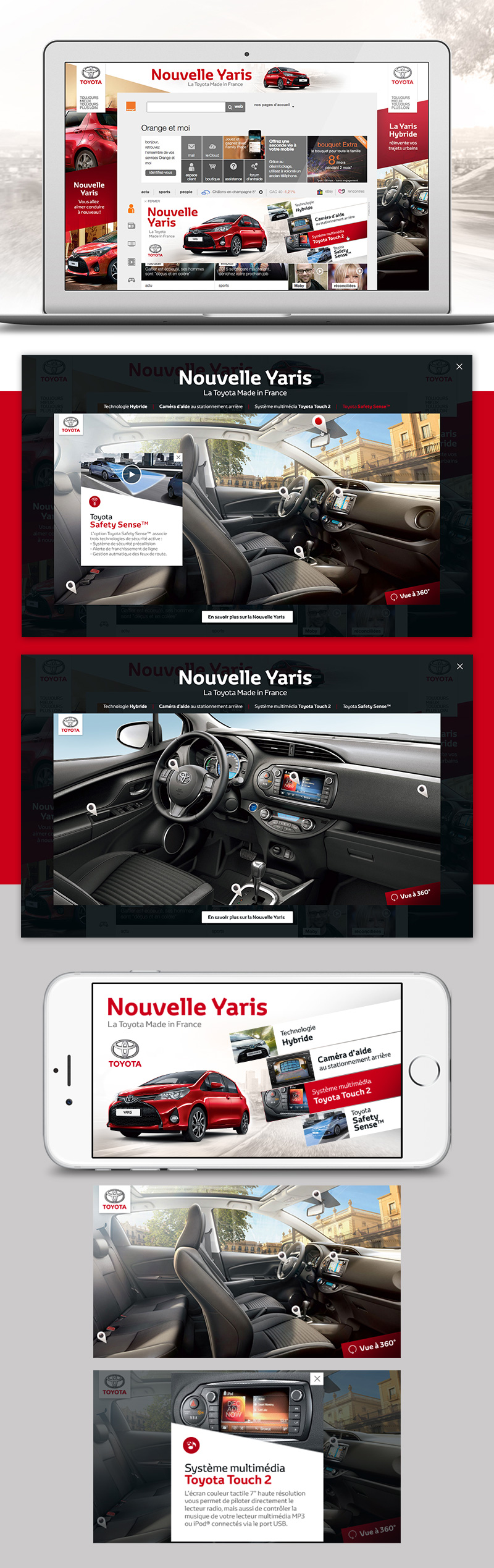 Directeur artistique freelance - Toyota Yaris - Webdesign