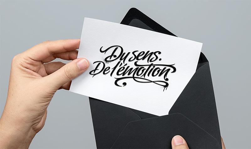 Directeur artistique freelance - Du sens de l'émotion - Identité graphique